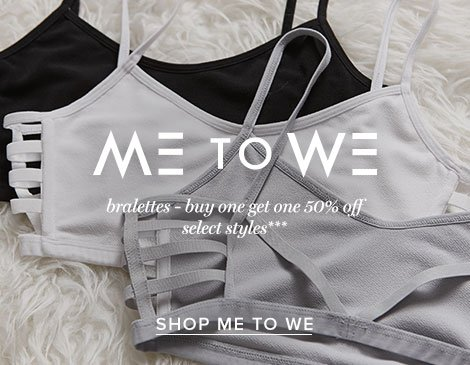 Womens Me to We Bralettes