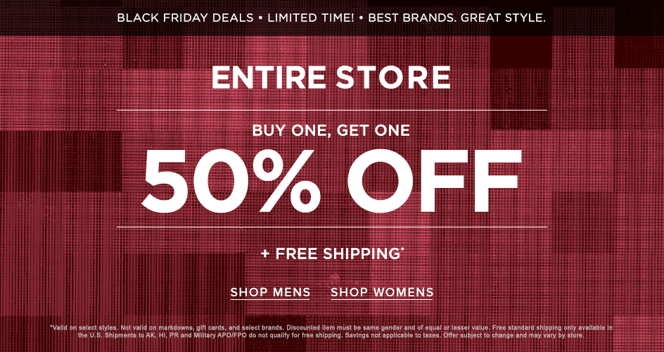 Sale Buy One Get One 50% Off + Free Shipping
