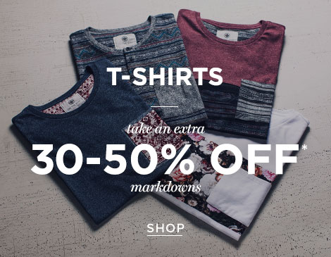 Men's markdown tees