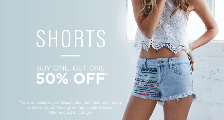Womens BOGO 50% off shorts