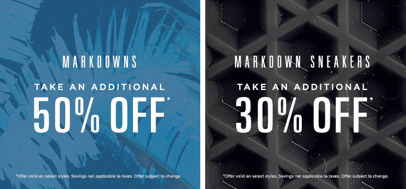 Mens 30% off markdown sneakers