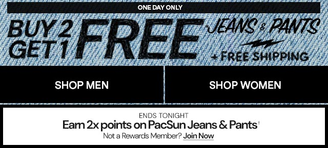 Dual - Earn 2x points on PacSun Denim & Pants