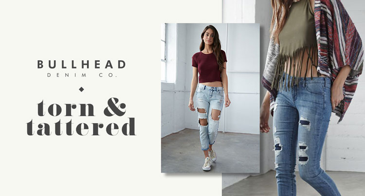 Womens Denim torn & tattered