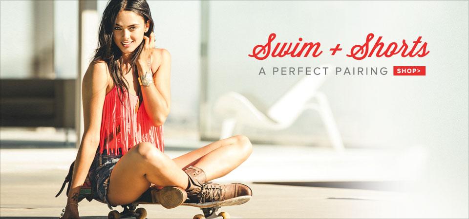 Womens Swim + Shorts