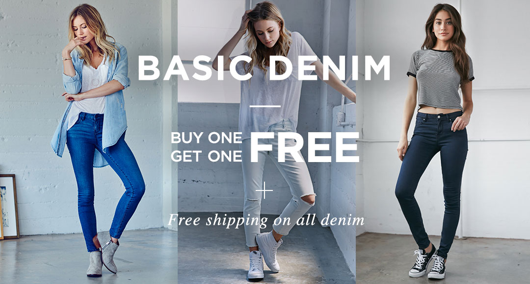 Womens basic denim BOGO free
