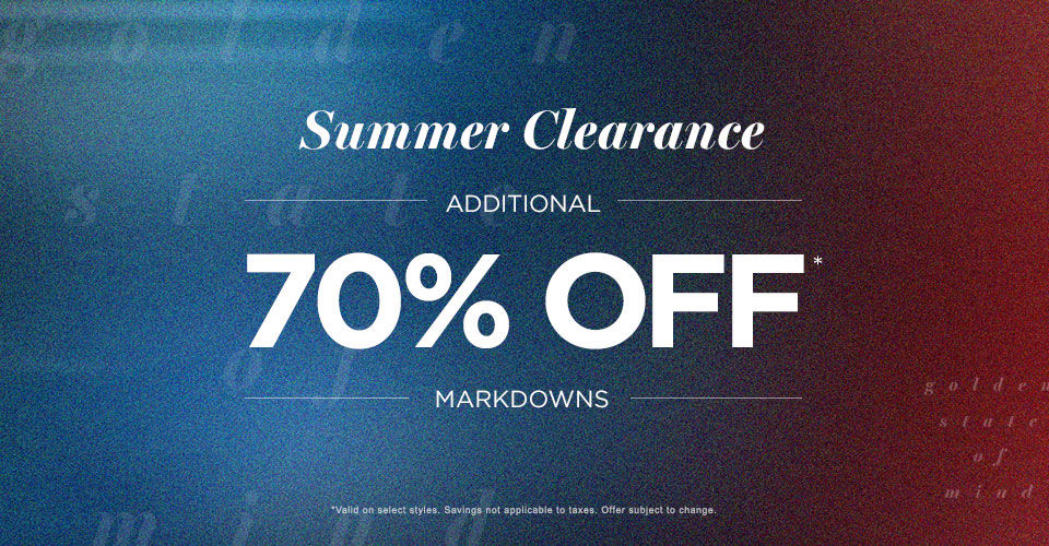 Mens 70% off MDS