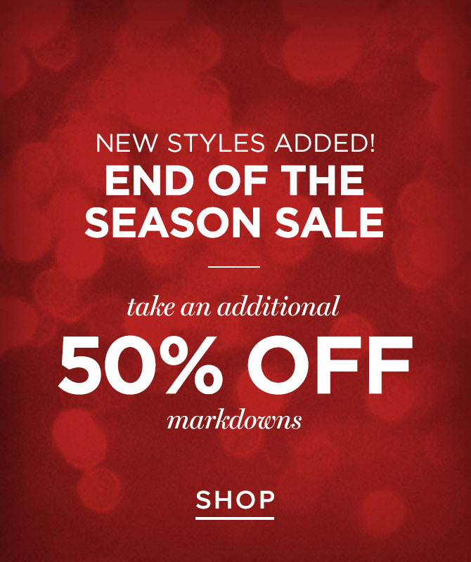 Womens 50% off markdowns