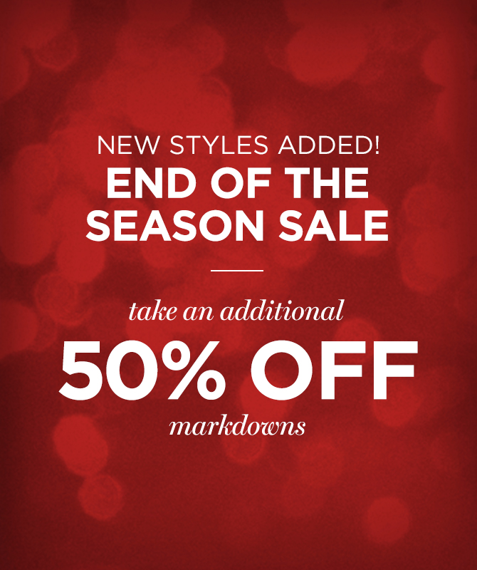 Mens 50% off Markdowns