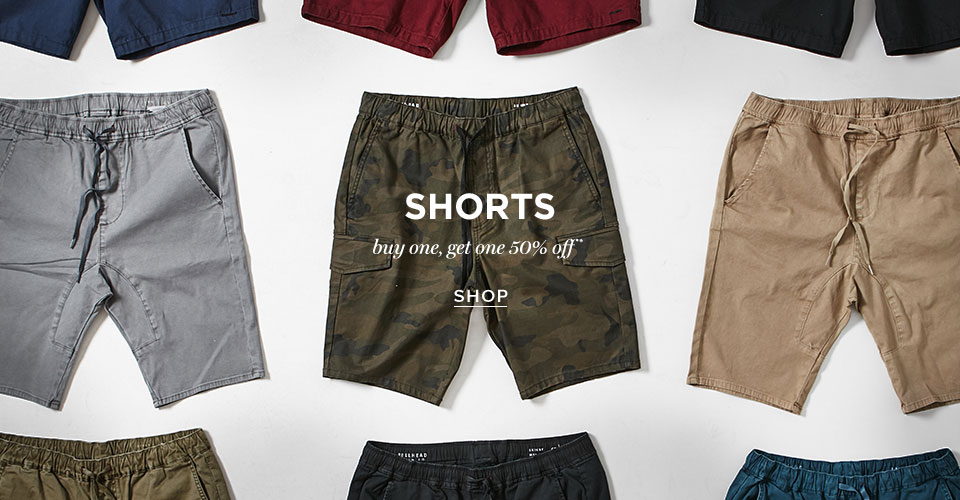 Mens Shorts BOGO 50%