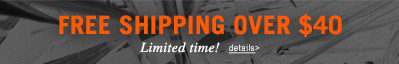 Free Shipping Over $40, Limited Time