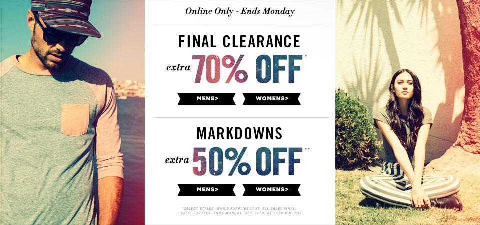 Final Clearance / Markdowns BOGO