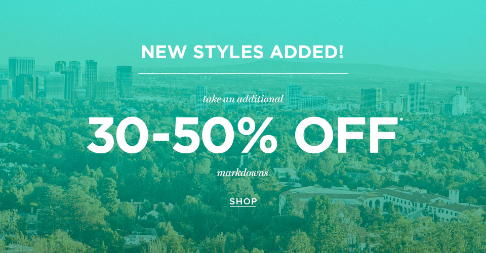Mens Markdowns 30-50% off
