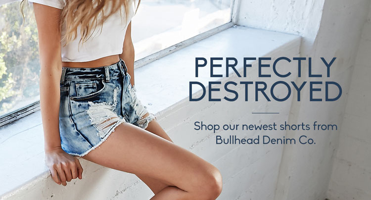 Womens Destroyed Shorts