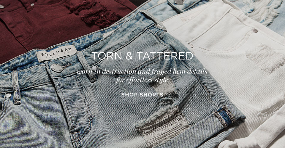 Womens Shorts Destroyed