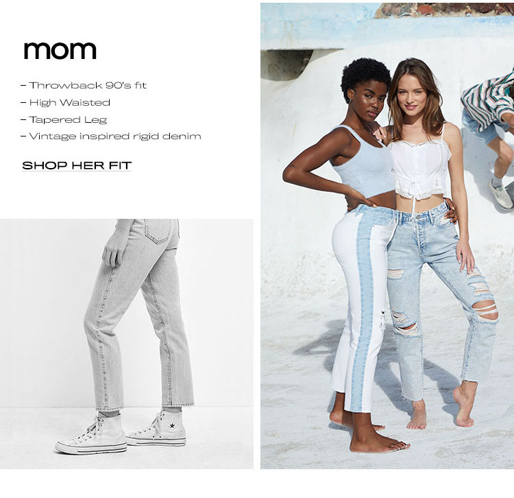 shop womens mom fit