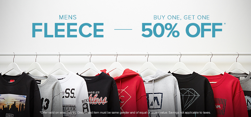 Mens Branded Fleece BOGO 50