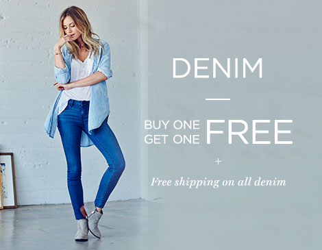 Women's BOGO free denim + free ship