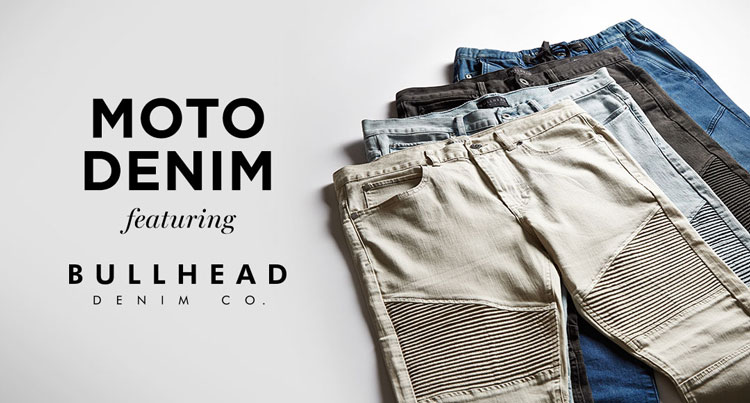 Mens Moto Denim