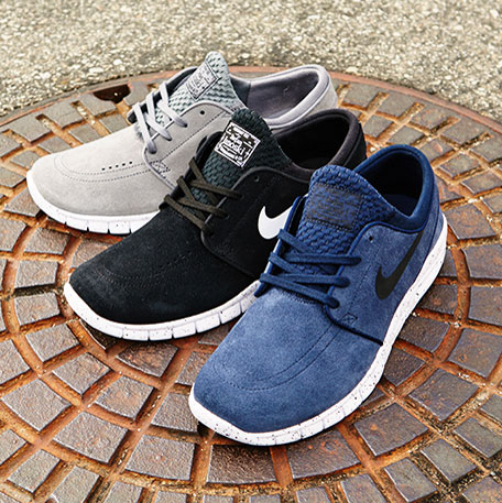 janoski max grey black blue leather group