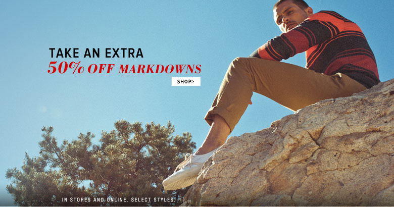 extra 50% off markdowns