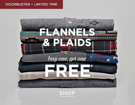 Mens BOGO FREE Flannels