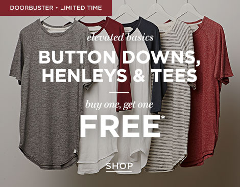 Mens BOGO FREE Elevated Basics