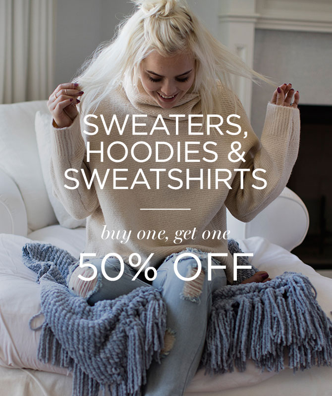 Womens BOGO 50 Sweaters & Fleece